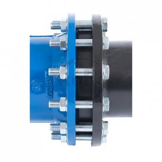 Pakkingset Gietijzer/PE PN10/16 RVS A2/A4