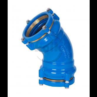 Mof bocht 45° trekvast (MMK-KS 45°-tv) PN10/16