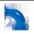 Flensbocht reduceer 90° (RQ) PN10/16